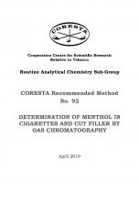 Determination of Menthol in Cigarettes and Cut Filler by Gas